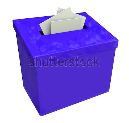 Blue Suggestion Box Submit Ideas Comments Stock photo © iqoncept