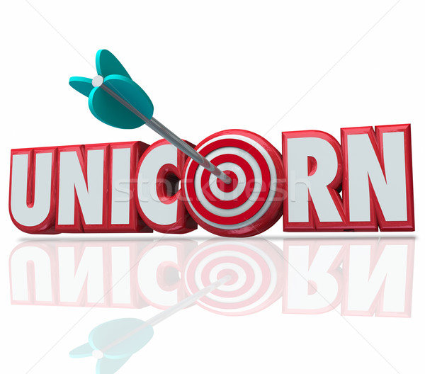 3D palabra flecha caza raro Foto stock © iqoncept