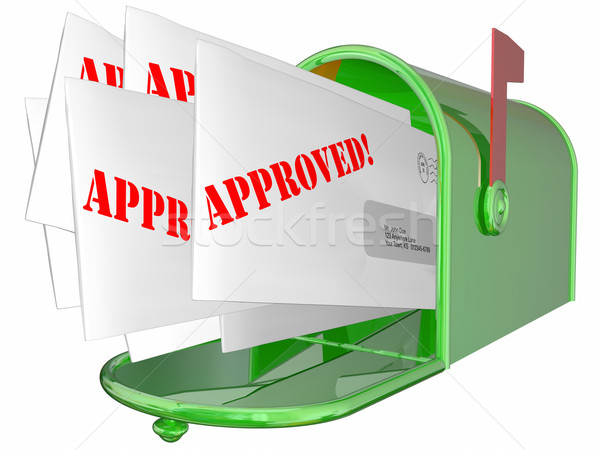 Approved Letter Accepted Message Mailbox 3D Stock photo © iqoncept