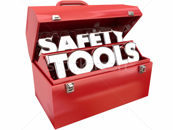 Safety Tools Prevent Injury Accident Security Toolbox Words Stock photo © iqoncept