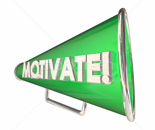 Motivate Bullhorn Megaphone Inspirational Message 3d Illustratio Stock photo © iqoncept