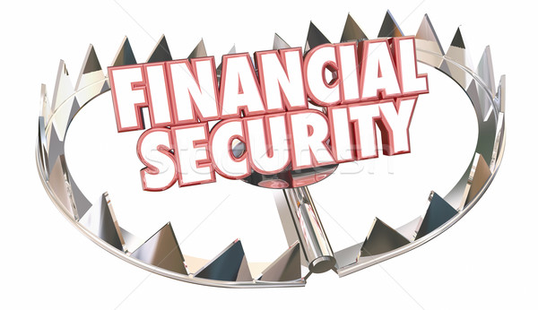 Stock photo: Financial Security Bear Trap Protect Wealth Words 3d Illustratio