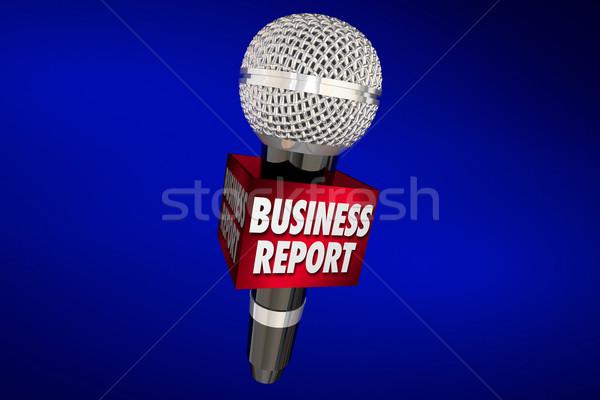 Business relazione news vendite finanziaria aggiornare Foto d'archivio © iqoncept