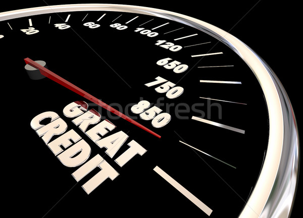 Great Credit Score Report Improve Increase Speedometer 3d Illust Stock photo © iqoncept