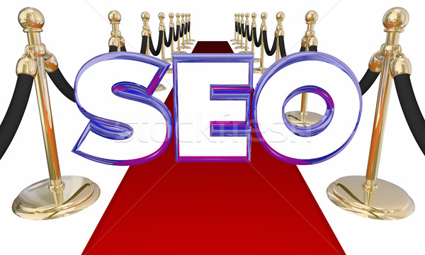 SEO Search Engine Optimization Red Carpet 3d Illustration Stock photo © iqoncept