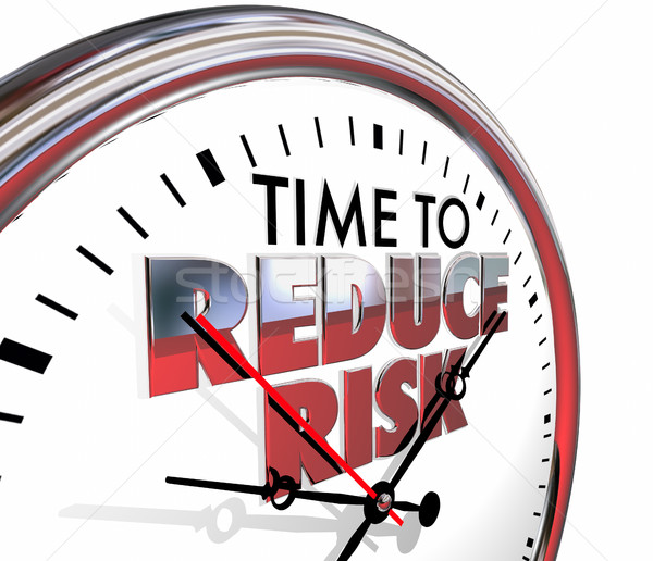 Time to Reduce Risk Clock Mitigation Danger 3d Illustration Stock photo © iqoncept