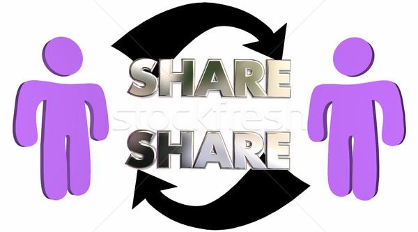 Palavra pessoas comunicação ilustração 3d falante Foto stock © iqoncept