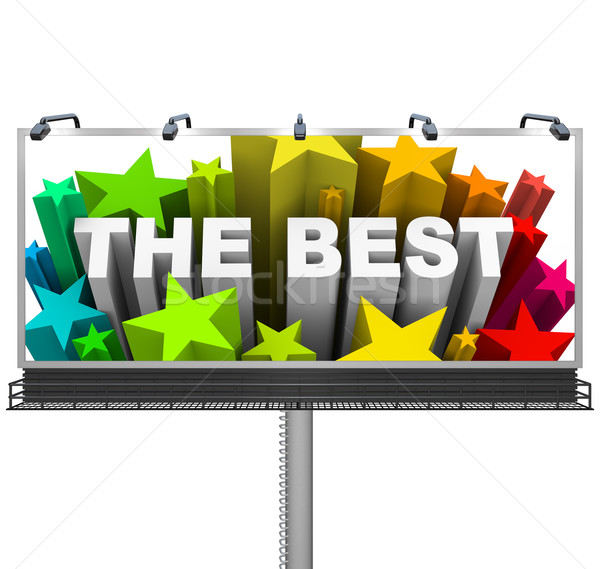 Announcing the Best on a Huge Billboard for Top Prize Stock photo © iqoncept