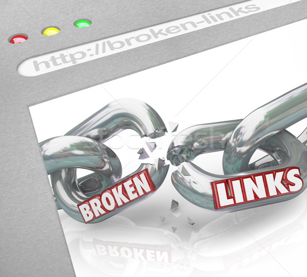 Bad Broken Links Website Screen Chain Connections Stock photo © iqoncept