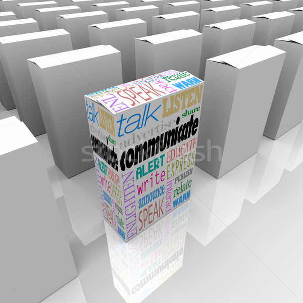 Communicate Package Helps You Learn Many Boxes Choices  Stock photo © iqoncept