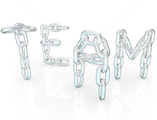Team Word Chain Links Together Partners Stock photo © iqoncept