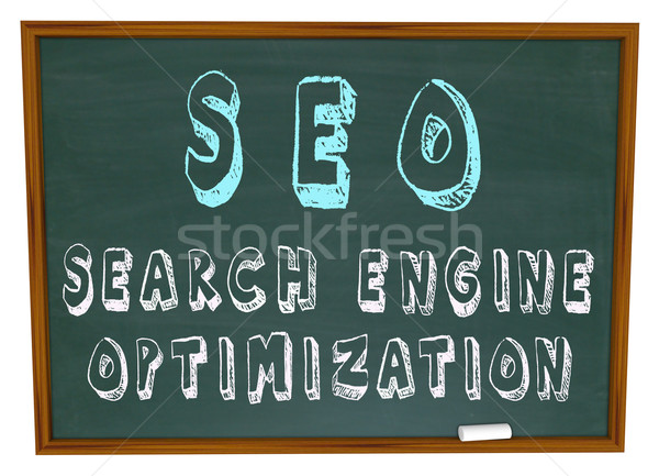 SEO Search Engine Optimization - Words on Chalkboard Stock photo © iqoncept