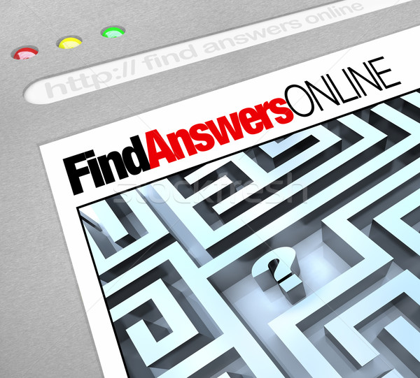 Stock photo: Find Answers Online - Web Screen