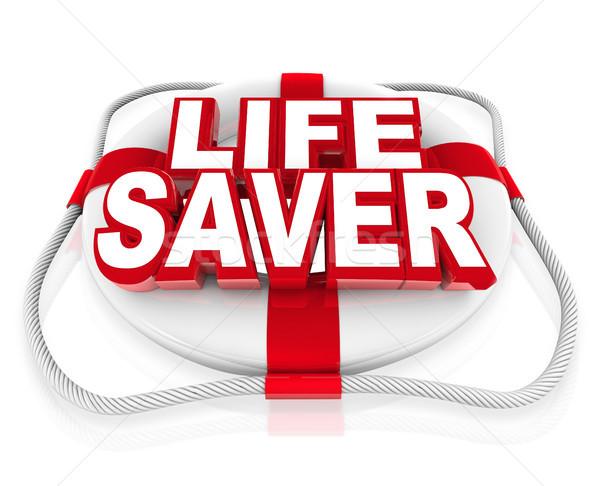 Leben helfen Moment Krise Gefahr Worte Stock foto © iqoncept