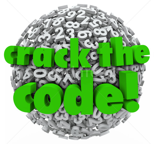 Crack the Code Number Sphere Breaking Password Security Stock photo © iqoncept