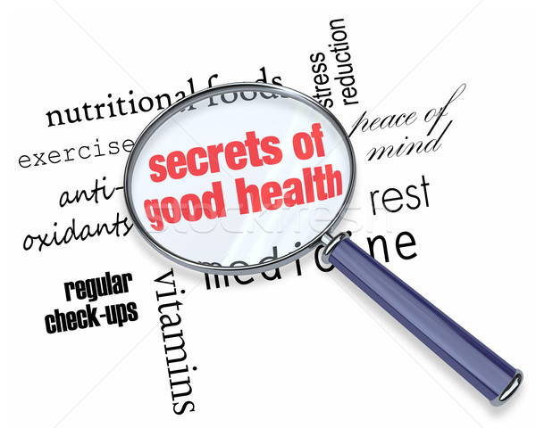 Searching for the Secrets of Good Health Stock photo © iqoncept