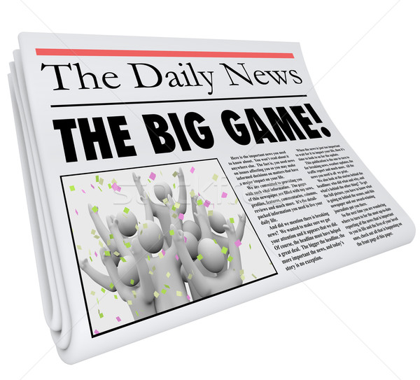 The Big Game Newspaper Headline Sports News Update Stock photo © iqoncept