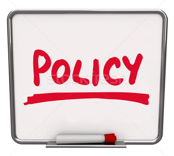 Policy Word Notice Board Follow Procedure Compliance  Stock photo © iqoncept