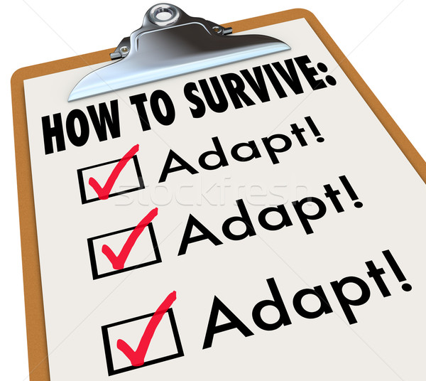 How to Survive Adapt Checklist Clipboard Advice Instructions Suc Stock photo © iqoncept