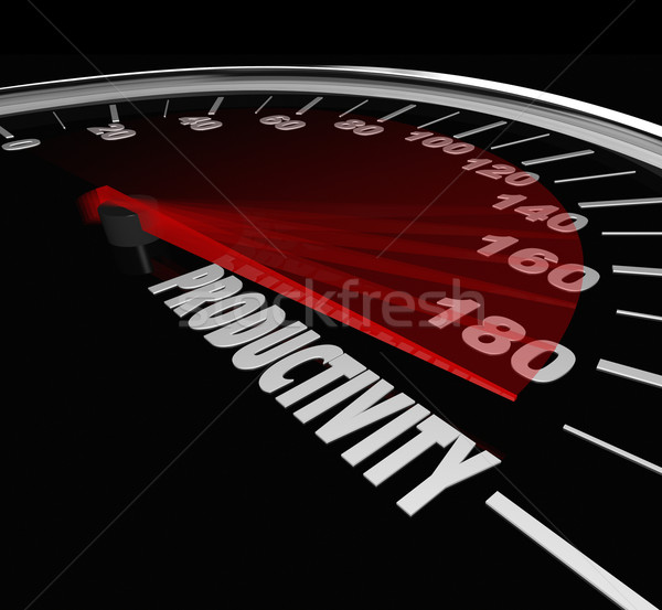 Productivity Measurement Speedometer High Output Level Efficienc Stock photo © iqoncept