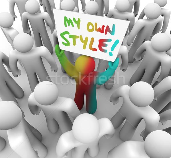 独自の スタイル 人 にログイン ストックフォト © iqoncept