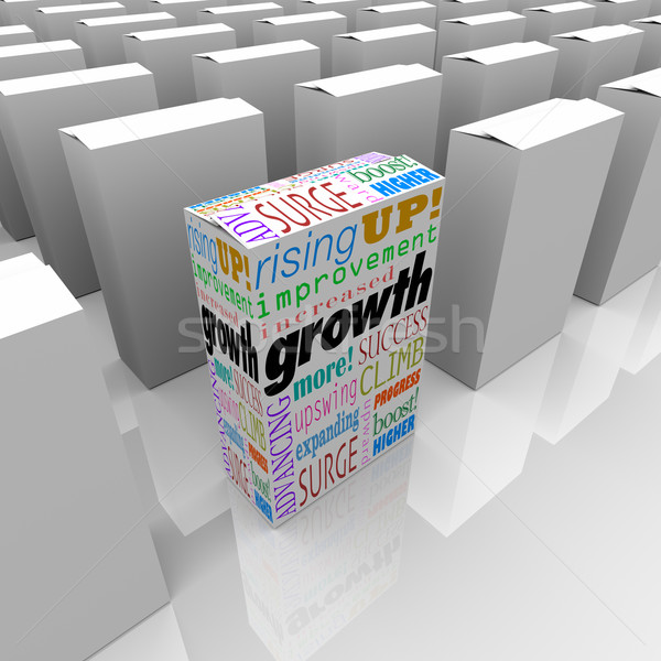 Growth Words One Box Best Product Competitive Edge Advantage Stock photo © iqoncept
