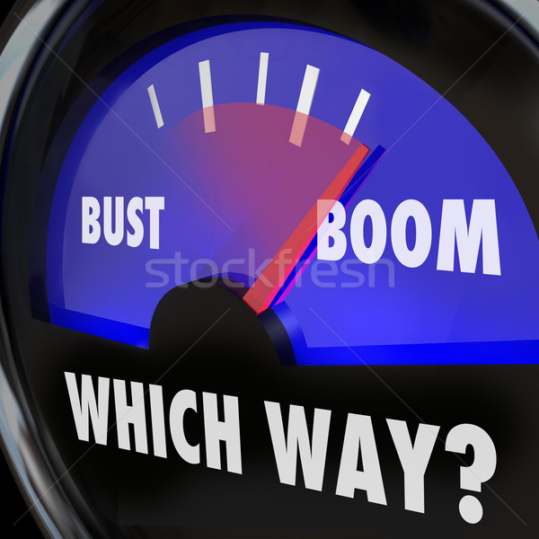 Boom or Bust Words Gauge Measure Success Failure Earnings Vs Los Stock photo © iqoncept