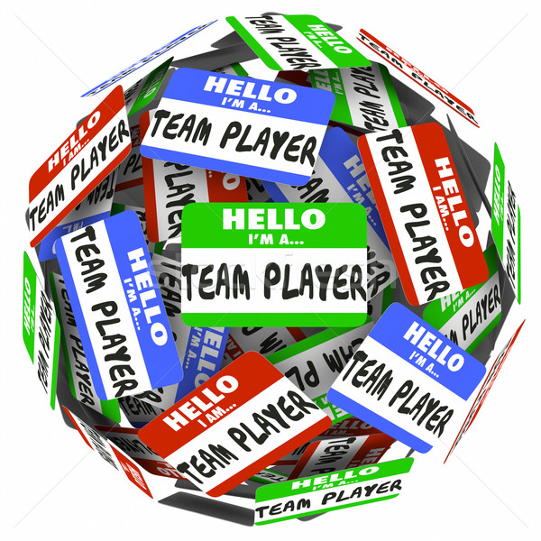 Stockfoto: Hallo · team · speler · stickers