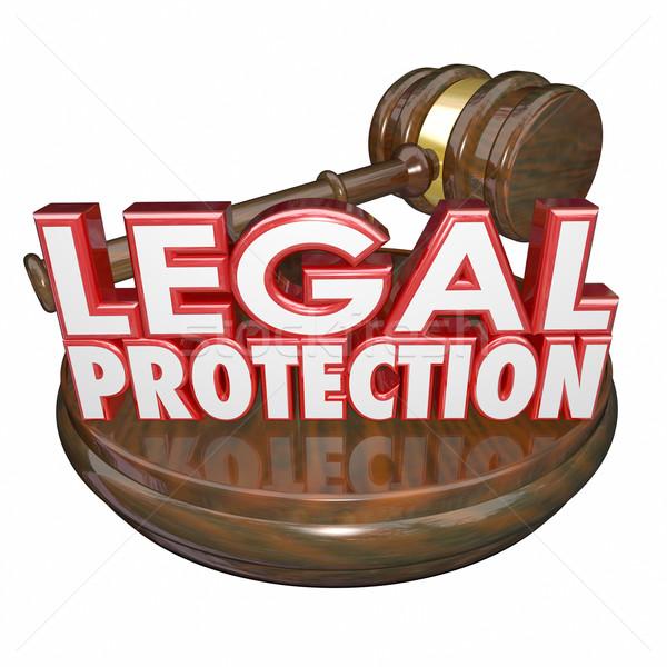 Prawnych ochrony sędzia młotek sąd prawnik Zdjęcia stock © iqoncept
