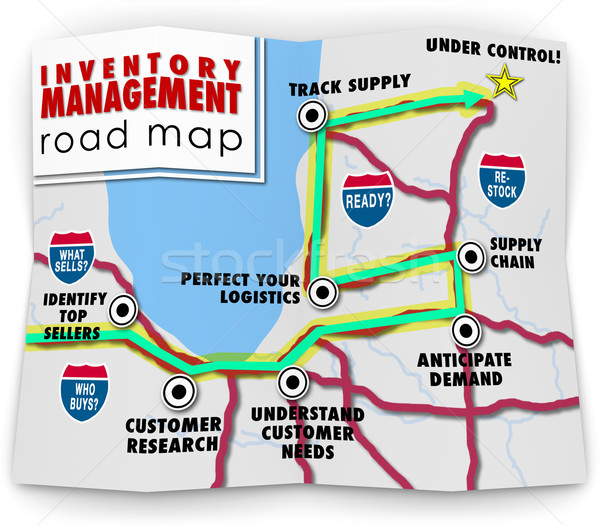 Inventory Management Road Map How to Control Products Selling Re Stock photo © iqoncept