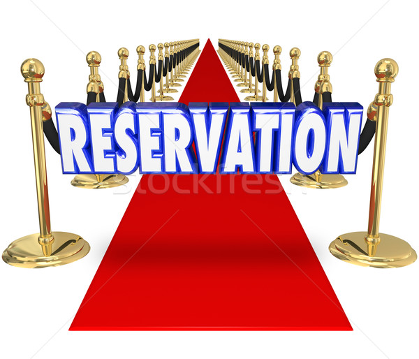 Reservation Red Carpet Exclusive Restaurant Club Access Entry We Stock photo © iqoncept