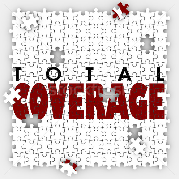 Total Coverage Insurance Policy Holes Gaps Puzzle Pieces Stock photo © iqoncept