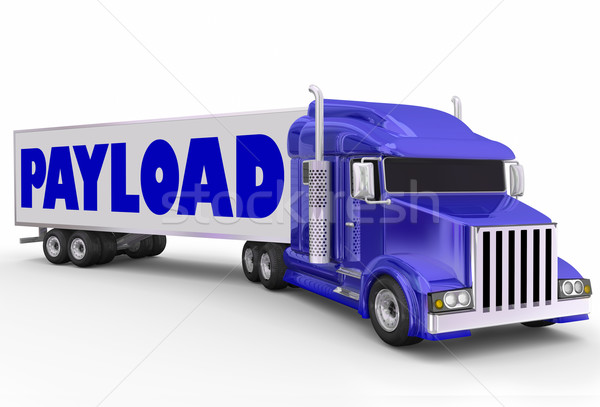 Payload Trailer Truck Shipment Hauling Delivery Stock photo © iqoncept