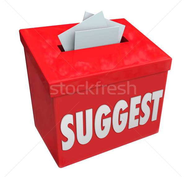 Suggest Word Submission Box Ideas Comments Suggestions Feedback Stock photo © iqoncept