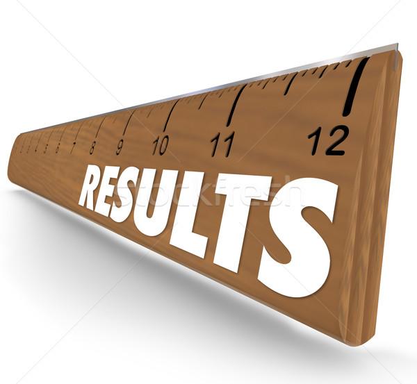 Risultati parola righello risultato prestazioni misurazione Foto d'archivio © iqoncept