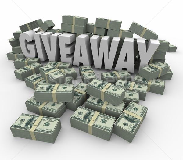 Jackpot para ödül nakit 3D kelime Stok fotoğraf © iqoncept