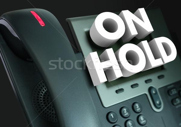 Houden telefoon wachten helpen hulp 3D Stockfoto © iqoncept