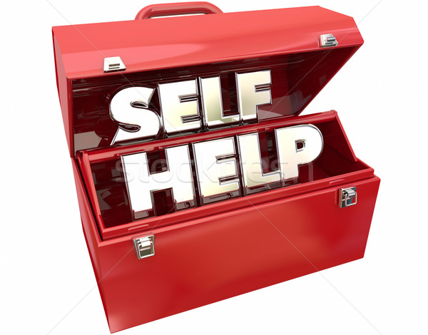 Self Help Improvement Toolbox Resources Advice 3d Words Stock photo © iqoncept