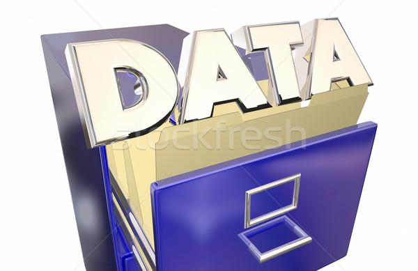 データストレージ 情報 アクセス ファイル ストア ストックフォト © iqoncept