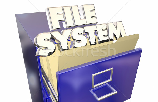 File System Folders Cabinet Operating Storage Environment Stock photo © iqoncept