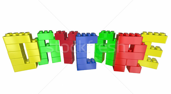 Daycare Child Care Center Toy Blocks Word 3d Illustration Stock photo © iqoncept
