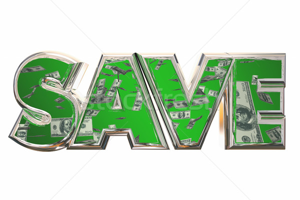 Save Word Money Falling Discount Bargain Deal 3d Illustration Stock photo © iqoncept