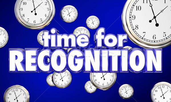 Tiempo reconocimiento relojes honrar 3d Foto stock © iqoncept