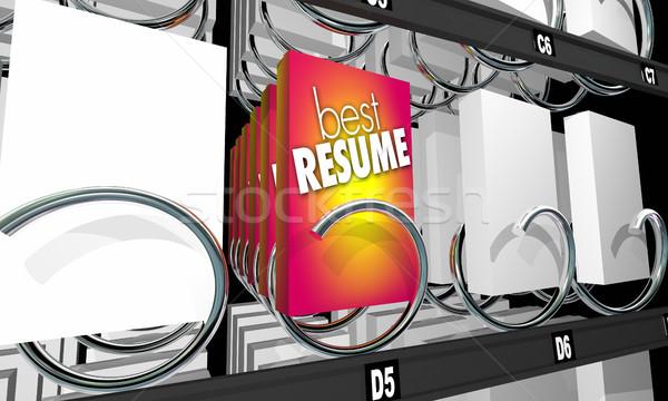 Legjobb önéletrajz pályázó állás jelölt árusító automata Stock fotó © iqoncept