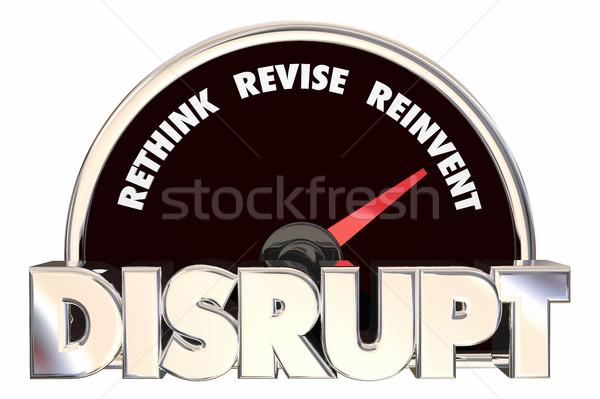 Stock fotó: Sebességmérő · 3d · illusztráció · méret · új · apró · termék