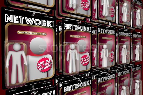 Network Social Interaction Meeting New People Action Figures 3d  Stock photo © iqoncept