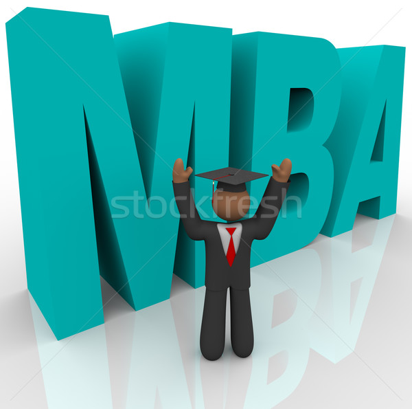 Mba - Letters and Business Man Stock photo © iqoncept