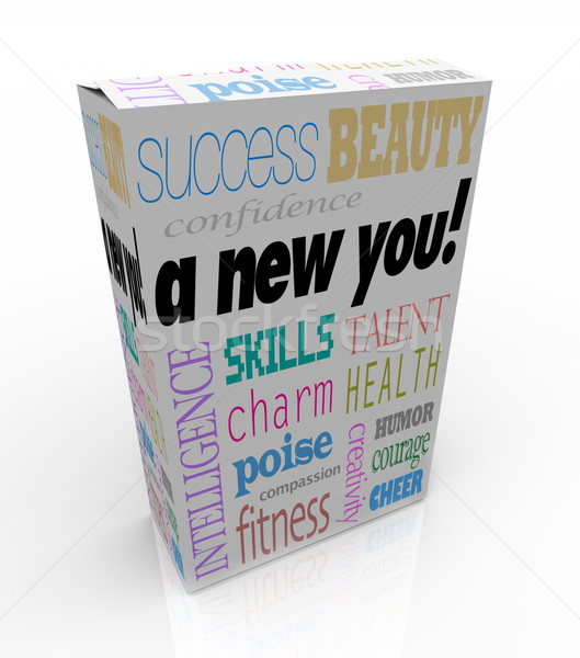 A New You - Product Box Selling Instant Self-Help Improvement Stock photo © iqoncept