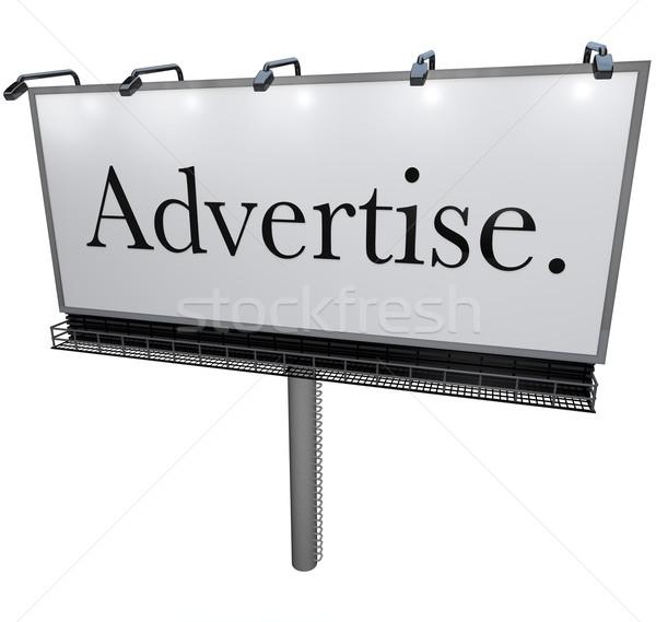 Outdoor cartellone pubblicizzare parola clienti potere Foto d'archivio © iqoncept
