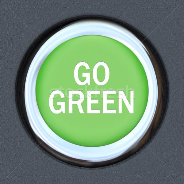 зеленый автомобилей кнопки зажигание слов Сток-фото © iqoncept